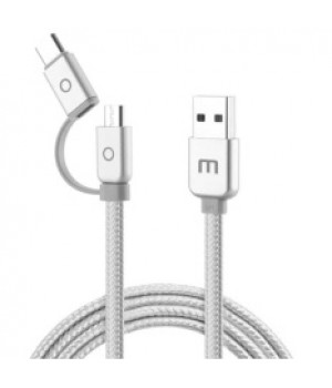 Кабель Meizu 2 in 1 microUsb + Type-C USB